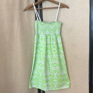 Other - Green and White Bathing Suit Cover Up